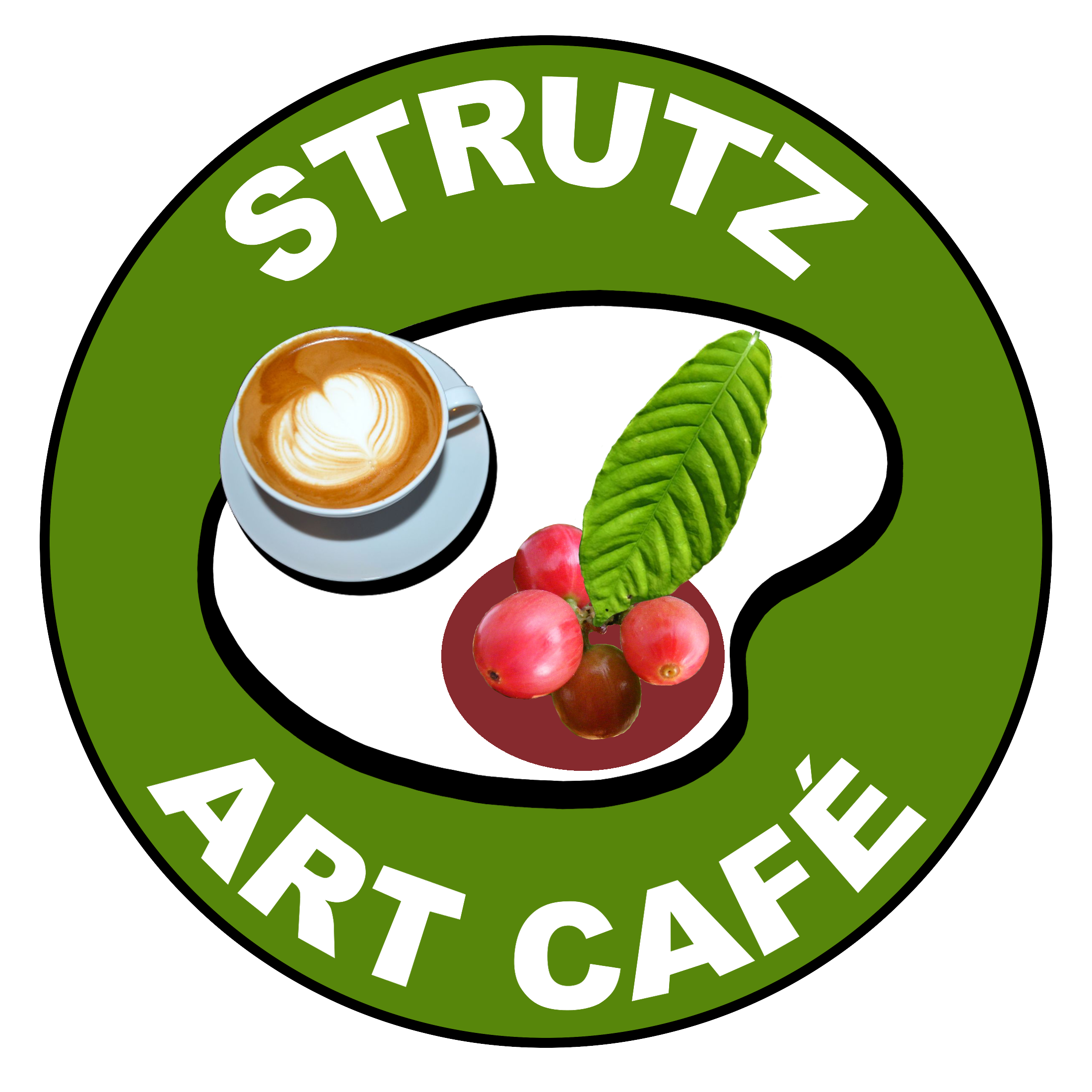 Logo Design Strutz Art Cafe PNG v2