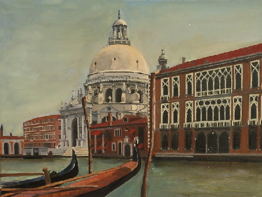 Madonna de la Salute Church, Oil on canvas, 1977