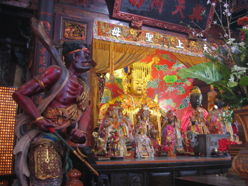 Altar statues in Great Queen of Heaven Temple, Tainan