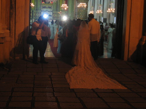 Bride in front of  San Agustin Church, Intramuros Manila, 2005