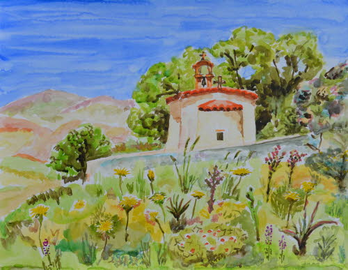 Chapel in the mountain of Spili, Crete 19-May-2015