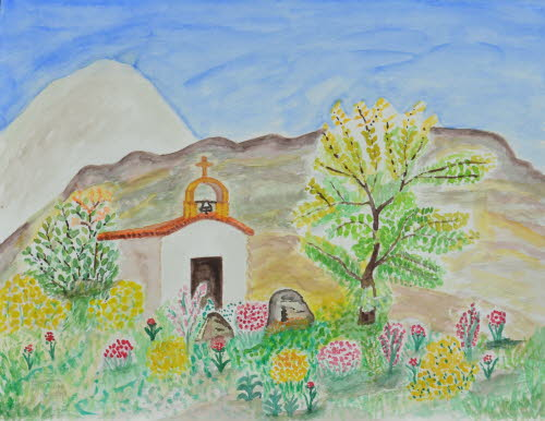Chapel in the mountain of Spili Crete 12-May-2013