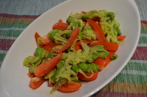 Katuday Flowers and Tomato Salad - Ilocano Salad