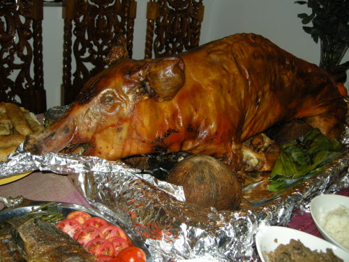 Lechon in Bangued, Abra, 2012