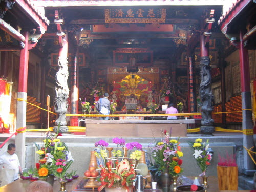 Main altar in Great Queen of Heaven Temple, Tainan