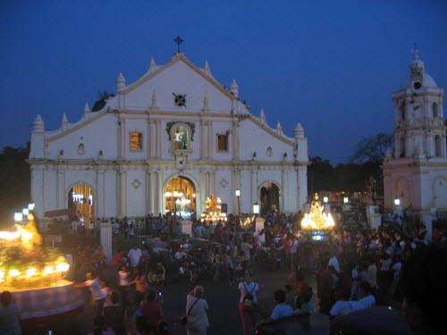 Palm Sunday  procession in front of Vigan Cathedral, 2006