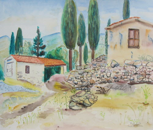 Samos Chapel close to Vourliotes, May30, 2005, 53x45cm2