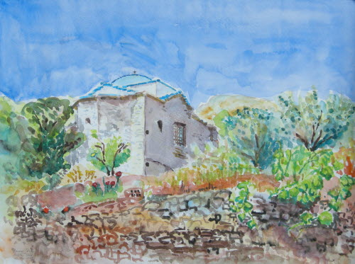Samos Profitis Ilias Chapel in Kokkari, May 29, 2009, 36x48cm2