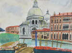 Santa Maria de la Salute Church, water color, 1977