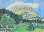 Scheffauer, Austrian Alps, 1977, water color