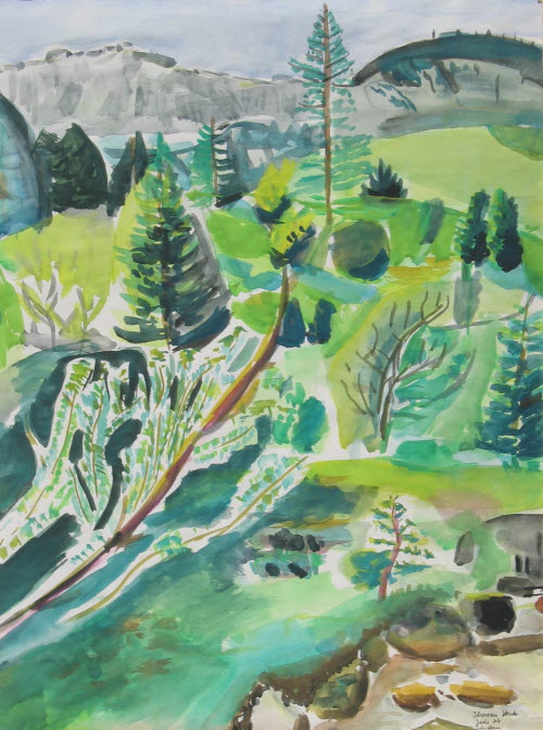 Scheffauer, Austrian Alps, July 1977, water color