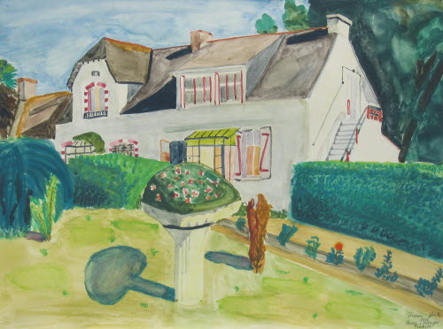 The fisherman's house, Penerf, Bretagne 1976, water color