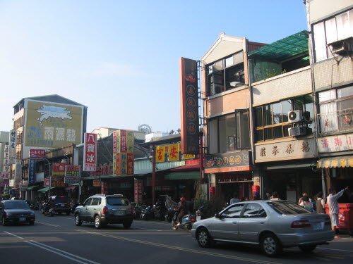 Typical busy street in Tainan