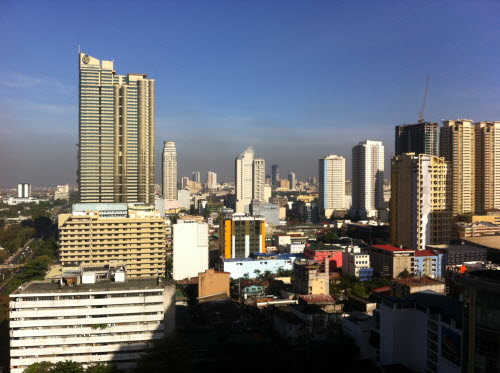 View from hotel room, Diamond Hotel, Manila 2012