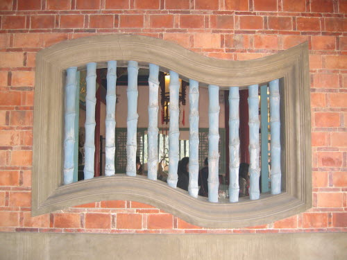 Window design in Chih-Kan Tower or Fort Providentia, Tainan